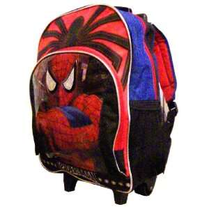 Marvel Spider Sense Spider Man Rolling Backpack: Toys & Games