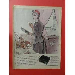 Black Magic Chocolates ,1955 Print Ad. (woman traveling) orinigal