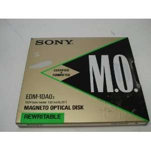 SONY M.O. Disc EDM 1DA0s 1024 byte/sector 130mm(5.25