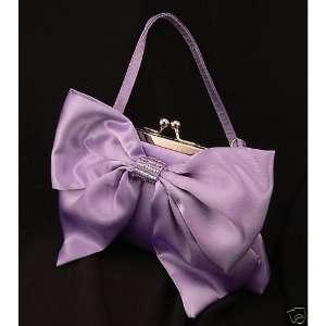 Lavender Purple Satin Bridal Bridesmaid Prom PURSE Clutch