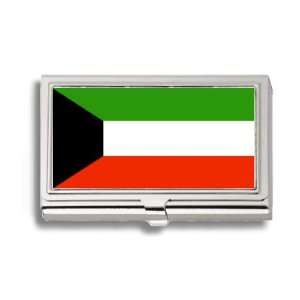 Kuwait Kuwaiti Flag Business Card Holder Metal Case