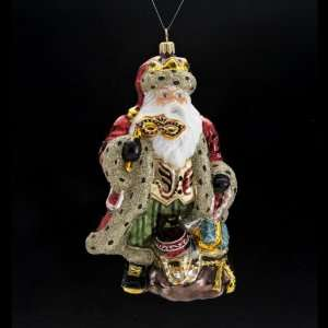 Carnival Santa Claus Polonaise Glass Christmas Ornament