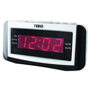 Naxa PLL Digital Alarm Clock with AM/FM Radio, Snooze
