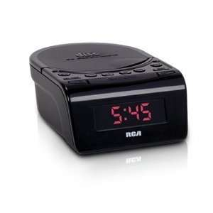 RCA RC5610 BLACK CLOCK RADIO CD STEREO SPEAKERS 6INCH LCD