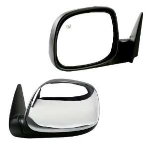 00 04 DRIVER SIDE POWER HEATED MIRROR WITH CHROME COVER Automotive