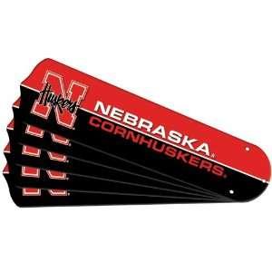 Nebraska Huskers NCAA 52 inch Ceiling Fan Blade Replacement Set