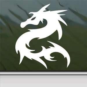 Dragon White Sticker Window Vinyl Laptop White Decal Arts