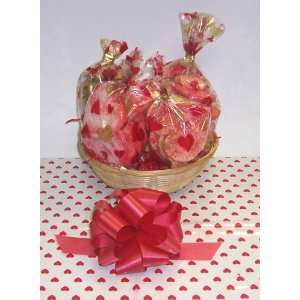 Scotts Cakes Small Valentines Day Cookie Lovers Basket with no Handle