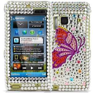 Ecell   BUTTERFLY CRYSTAL BLING CASE COVER FOR NOKIA N8 Electronics