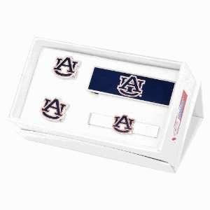 Auburn University Tigers 3 Piece Cufflink Gift Set Jewelry