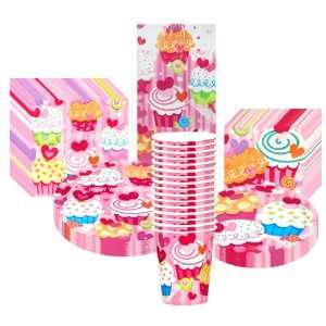 Valentines Day Cupcake Hearts Deluxe Party Supplies Pack