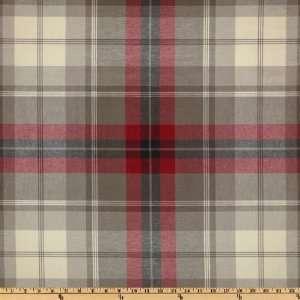 54 Wide Robert Allen Donnyglen Red/Natural Fabric By The