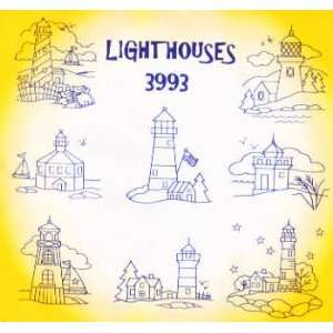Houses by Aunt Marthas Hot Iron Transfers 3993 Arts, Crafts & Sewing