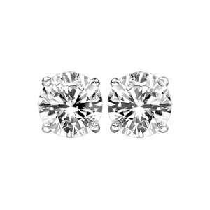 Diamond Stud Earrings in 14 kt White Gold LIFETIME