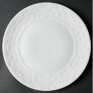(All White) Dinner Plate, Fine China Dinnerware: Kitchen & Dining