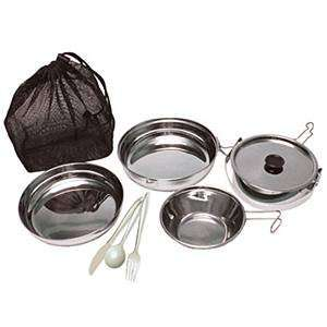 Olicamp Deluxe Stainless Steel Mess Kit, 7 Pieces Sports