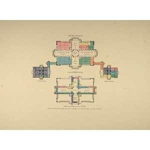 1893 Print Chicago Worlds Fair Fine Arts Floor Plan   Original Print