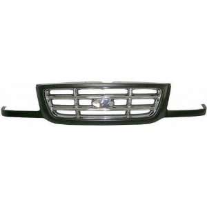 01 03 FORD RANGER GRILLE TRUCK, Chrome Bar Dark Gray (2001