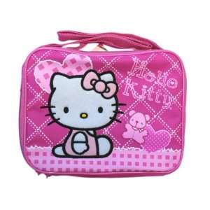 Pink Hearts Hello Kitty Lunch Box   Pink Hello Kitty Lunch