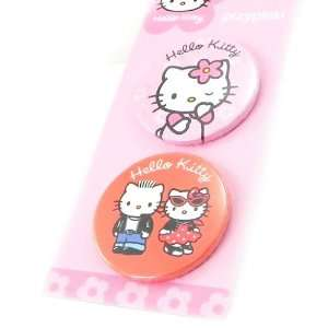 Set of two badges Hello Kitty pink. Jewelry