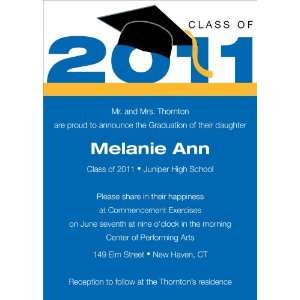 Royal & Bright Gold Graduation Invitations