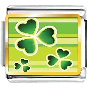 Day Green Clover Flying Photo Italian Charm Bracelet Pugster Jewelry