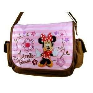 Disney Minnie Mouse Messenger Bag   Chocolate#23115