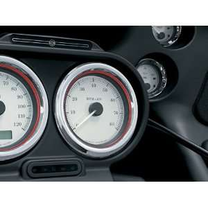 Deluxe Gauge Bezels with Colored Accents For Harley Davidson Touring
