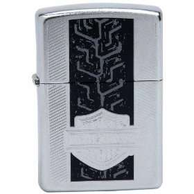 Harley Davidson Tracks Chrome Zippo Lighter Patio, Lawn