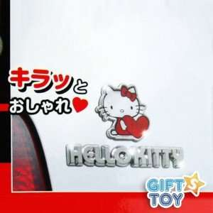 Hello Kitty Car Rear Reflector & Emblem (2pcs)