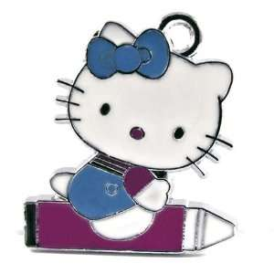 Hello Kitty Fuschia Crayon Enamel Charm Pendant Arts, Crafts & Sewing