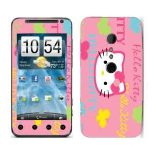 Meestick Hello Kitty Butterflies Vinyl Adhesive Decal Skin for HTC Evo