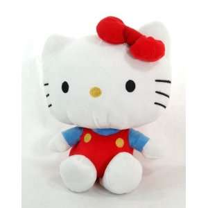 Sanrio Hello Kitty 7 Plush Doll in Her Blue Shirt and Red