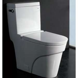 Oceanus Toilet With Elongated Bowl High Quality Polish Resist Stains