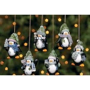 Penguin Christmas tree Ornaments Set of 6