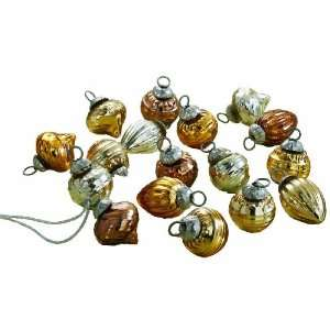 Mini Mercury 2 Glass, Christmas Ornaments, Set of 16