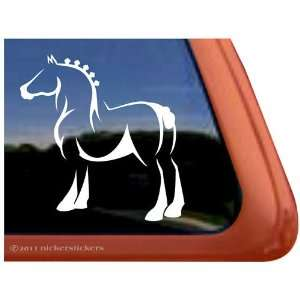 Fancy Draft Horse Trailer Vinyl Window Decal Sticker