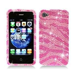 Hot Pink and Light Pink Zebra Rhinestones Diamond