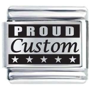 Proud Custom Laser Italian Charms Bracelet Link Pugster Jewelry