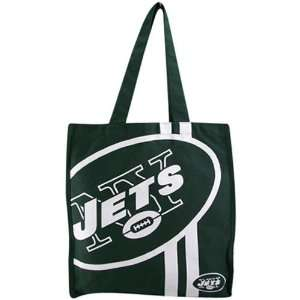 New York Jets Green Team Stripe Canvas Tote Sports