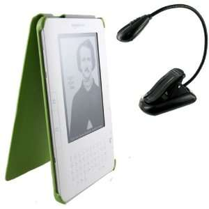 Kindle Leather Case and Travel Book Light for Kindle 2nd Generation