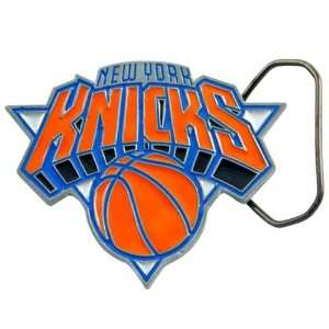 NBA New York Knicks Pewter Team Logo Belt Buckle  Sports