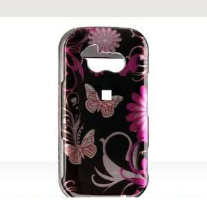 LG Neon GT365 Cover   Pink Flower Design Faceplate Case Cell Phones
