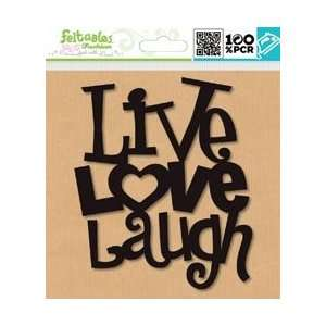 Black Live Love Laugh 1/Pkg; 3 Items/Order Arts, Crafts & Sewing