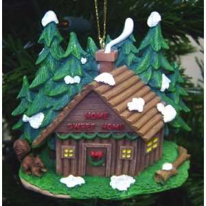 Home Sweet Home Log Cabin Christmas Ornament
