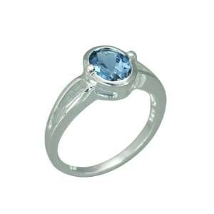 1.50 Carats Oval Shape Genuine London Blue Topaz Sterling