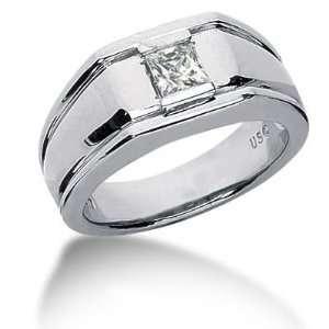 Men s 14K Gold Diamond Ring 1 Princess Diamond 11414 MDR433   Size 8
