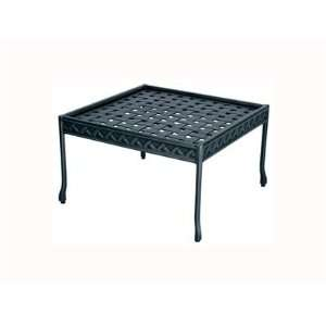 Cast Aluminum 22 Square Metal Patio End Table: Patio, Lawn & Garden