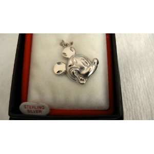 Disney Mickey Mouse Head Sterling Silver Charm: Arts