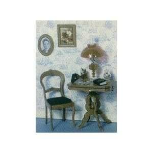 Dollhouse Miniature Victorian Table Furniture Kit Toys